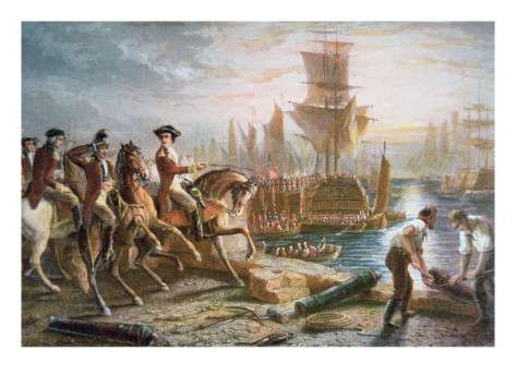 The British evacuate Boston, March 17, 1776.