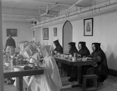 Trappist Monks in Cumberland, R.I. Photo courtesy Boston Public Library, Leslie Jones Collection