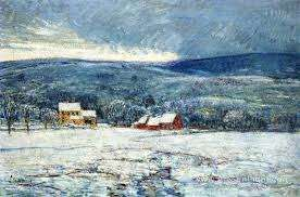 Winter in the Connecticut Hills by Childe Hassam
