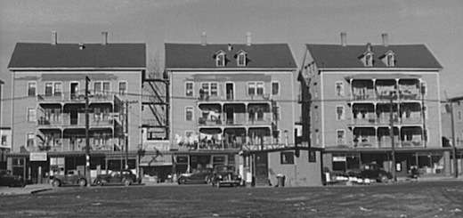 Woonsocket tenements, 1940. Library of Congress.