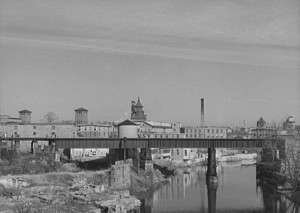 Woonsocket textile mills, 1940. Library of Congress.
