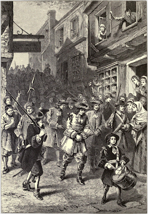 Andros is taken prisoner during the Boston Revolt