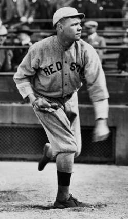 Babe Ruth pitches against the Yankees on Opening Day, 1917