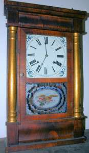 Chauncey Jerome Bronze Looking Glass Clock