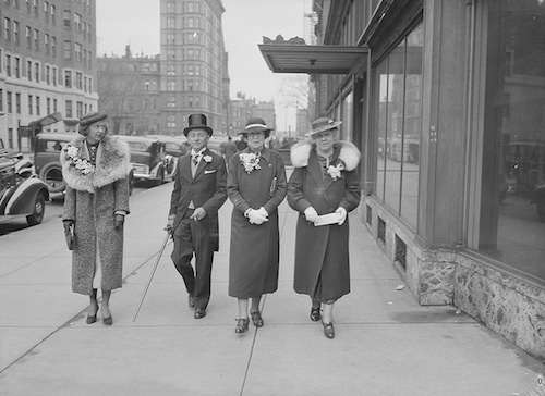 Showing off new Easter clothes in Boston, 1936. Photo courtesy Boston Public Library, Leslie Jones Collection.