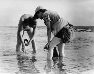 Rachel Carson with Bob Hines, Atlantic Ocean