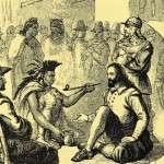 Massasoit and the Pilgrims negotiate a treaty