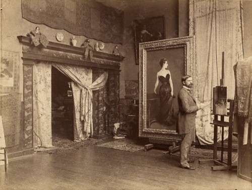 John Singer Sargent in his London studio.