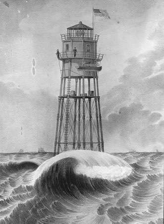 The original Minots Ledge Light