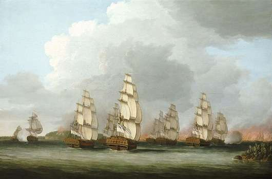 British ships defending against the Penobscot Expedition
