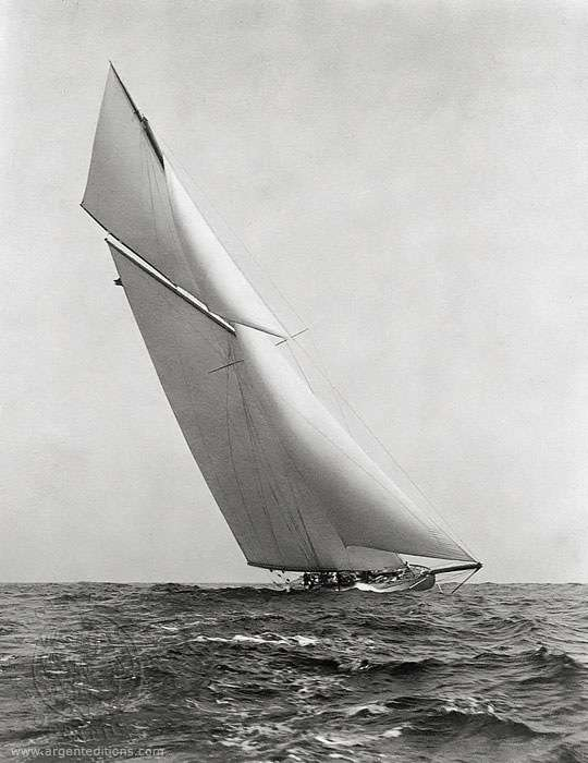 The Reliance before winning the America's Cup challenge