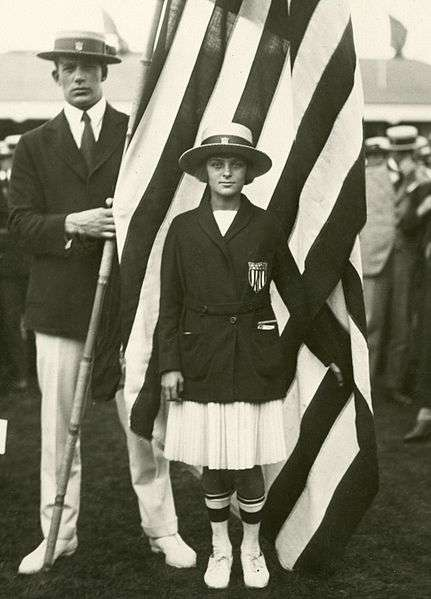 Aileen Riggin at the 1920 olympics.