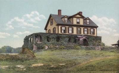 Celia Thaxter's cottage on the Isles of Shoals.