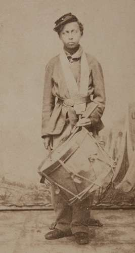 Henry Augustus Monroe, 13-year-old drummer boy for the 54th Massachusetts.