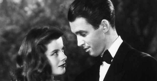 Hepburn and Stewart in The Philadelphia Story