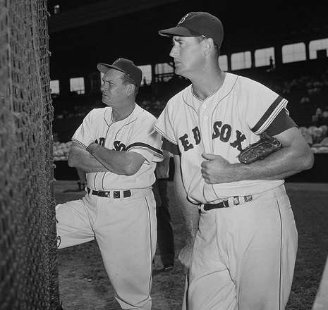 Pinky Higgins and Ted Williams. Photo courtesy Boston Public Library, Leslie Jones Collection.