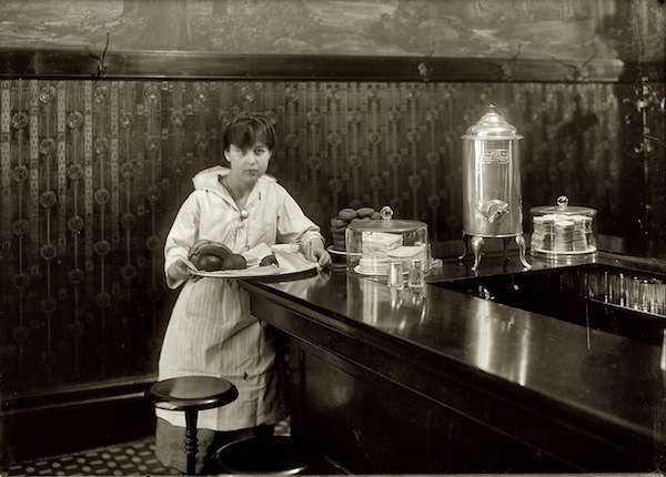 14-year-old waitress at the Exchange Luncheon in South Boston. Photo, by Lewis Wickes Hine, courtesy Library of Congress.
