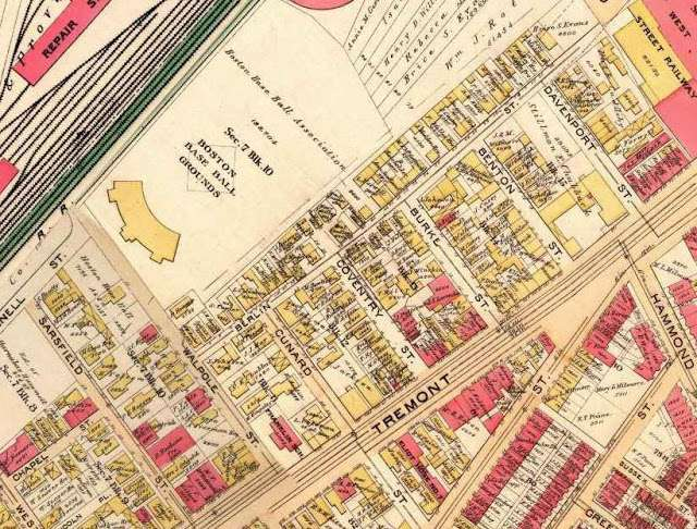 1890 map of the neighborhood burned by the fire