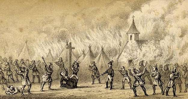 Before peace was made with the Indians: Father Rale's death.