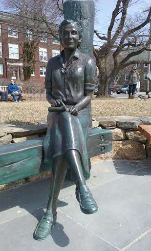 Statue of Rachel Carson at Woods Hole Oceanographic Institute in Falmouth, Mass.