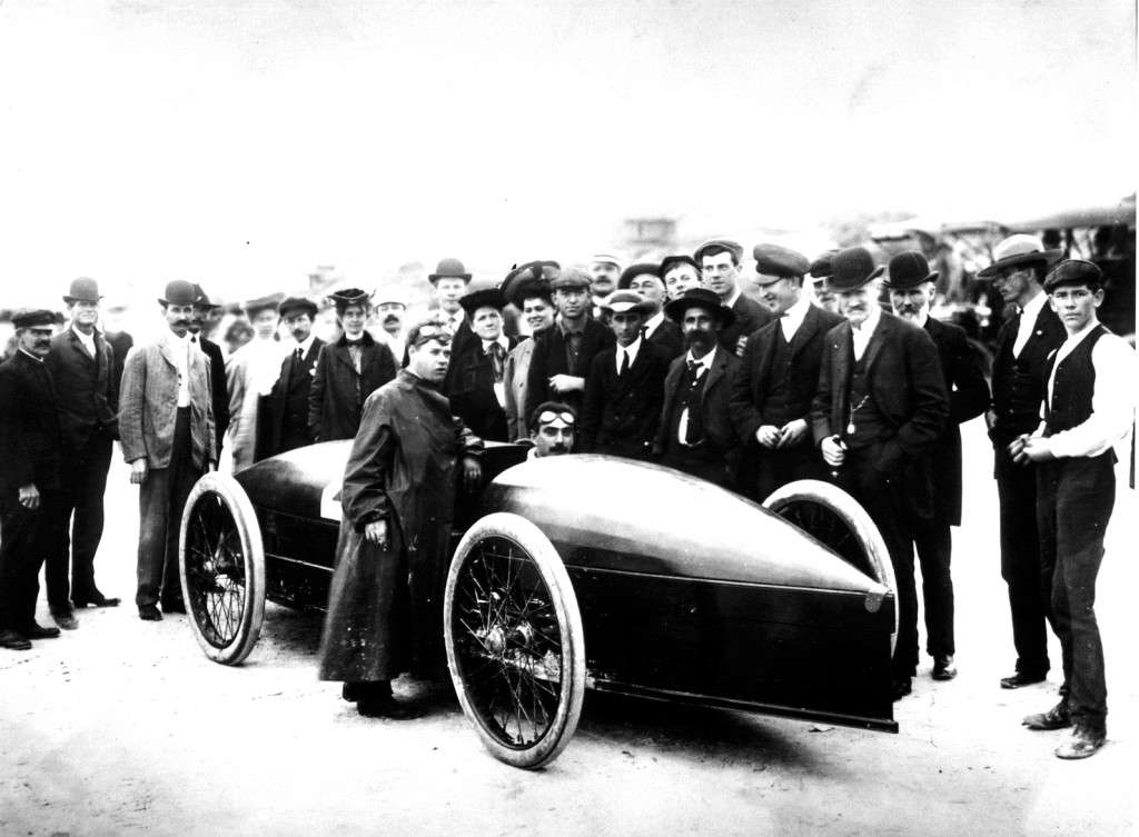 Fred Marriott in the Stanley Rocket, 1907.