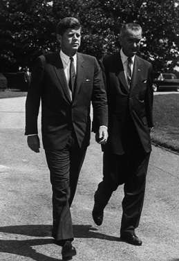 President John F. Kennedy and Vice President Lyndon Johnson