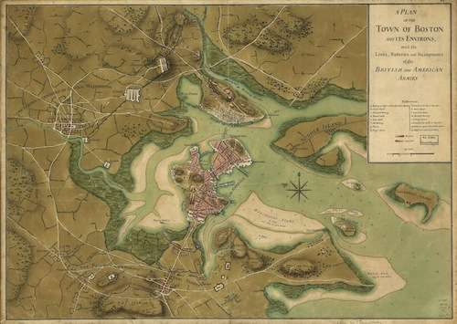 Map of the siege of Boston