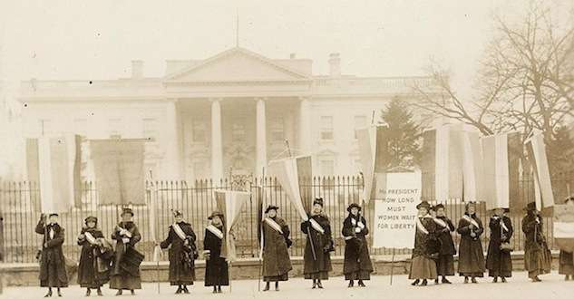 National Woman's Party pickets the White House.
