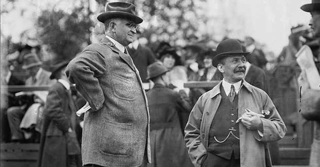August Belmont (r) with Paul Cravath.