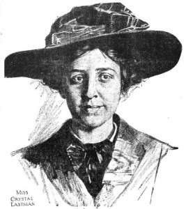 Crystal Eastman from a 1910 newspaper