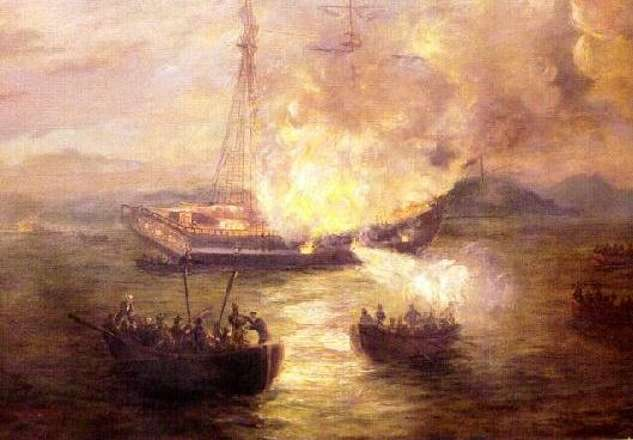 The Burning of the Gaspee by Charles deWolf Brownell, c1892