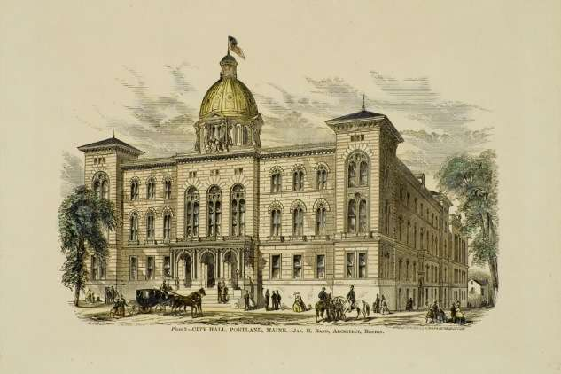 Portland City Hall, 19th century