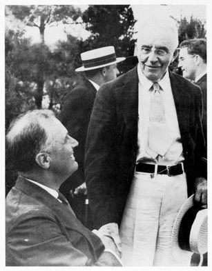 President Roosevelt and Governor Cross