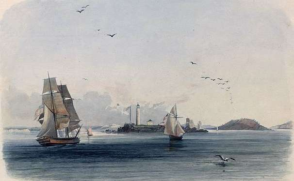 Boston Light, by Karl Bodmer