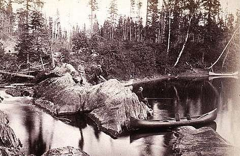 Fishing in the Maine North Woods, 1885