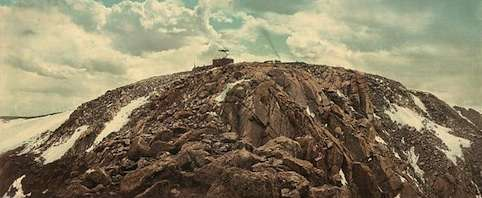 The summit of Pikes Peak. Library of Congress photo.