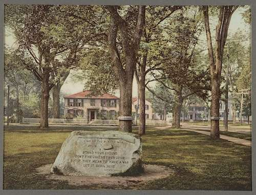 Line of the Minutemen Memorial, courtesy Library of Congress