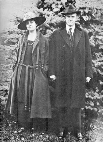 Calvin and Grace Coolidge, about 1918