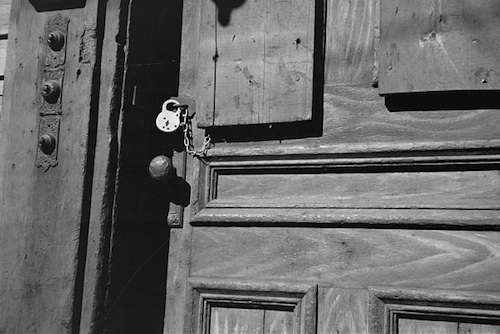 Manchester, N.H., tenement door. Photo courtesy Library of Congress.