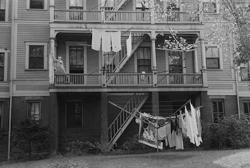 'Rear of apartment house, Meriden, Conn.' Photo courtesy Library of Congress.