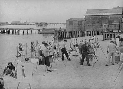 Provincetown art class. Photo courtesy Library of Congress.
