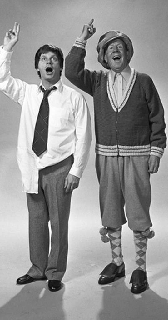 Robert Morse and Rudy Vallee in 'How to Succeed'