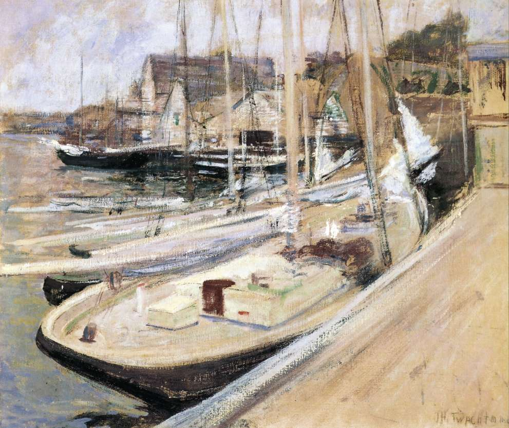 Fishing Boats at Gloucester, by John Henry Twachtman