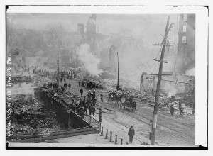 'Great Fire of 1911,' courtesy Library of Congress