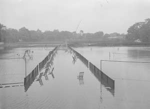 Longmeadow cricket courts. Photo courtesy Boston Public Library, Leslie Jones Collection.