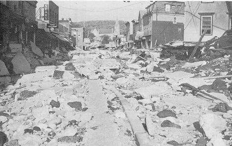 Winsted, Conn., after Hurricane Diane
