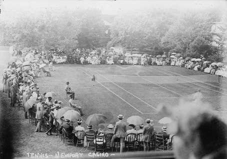 an Early Lawn Tennis Match