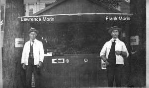 Two of Ovide Morin's sons. Courtesy Old Town Historical Society