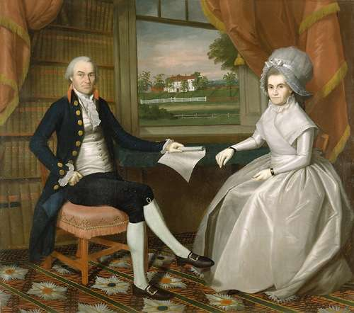 Oliver and Abigail Ellsworth by Ralph Earl