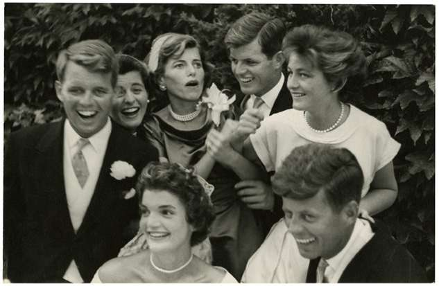 Clockwise from left: Robert F. Kennedy, Patricia Kennedy, Eunice Kennedy Shriver, Edward M. Kennedy, Jean Kennedy, John F. Kennedy, Jackie Kennedy. (Photo: Kennedy Presidential Library)